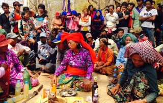 Indigenous group performs traditionally ceremony to curse the developers.