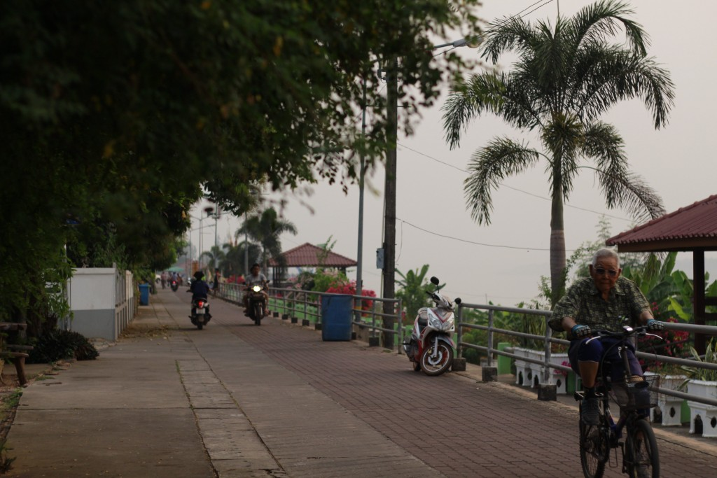 picture of a road next to Mekong